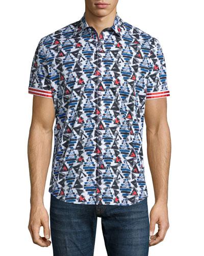 Cinder Cones Printed Short-Sleeve Shirt, Multicolor