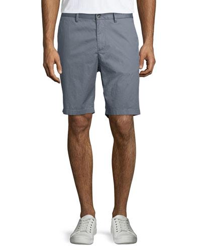 Lightweight Poplin Shorts, Greyhound