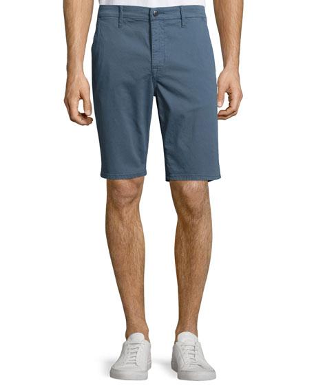 Joe's Jeans Flat-Front Trouser Shorts, Blue