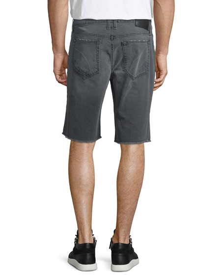 Eliott Distressed Denim Short, Dark Gray