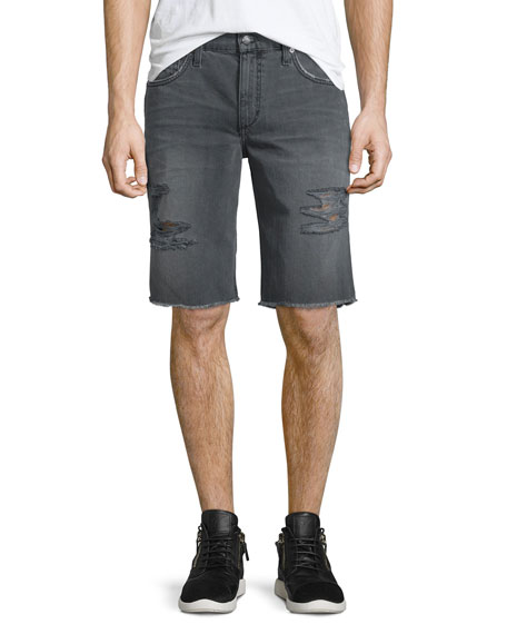 Joe's Jeans Eliott Distressed Denim Short, Dark Gray
