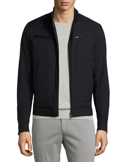 Loro Piana Windmate?? Zip-Front Jacket, Blue Navy