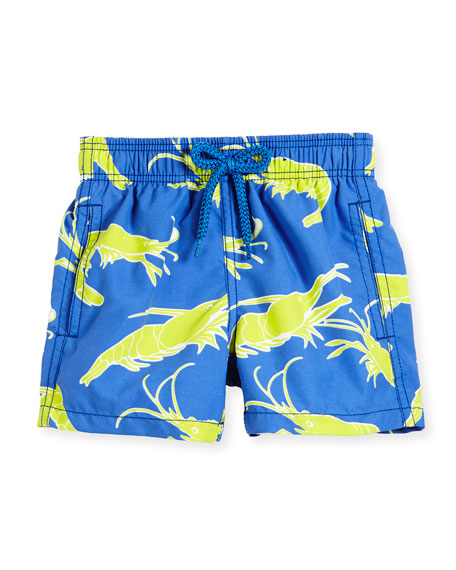Vilebrequin Jim Shrimp-Print Swim Trunks, Boys' 2-8