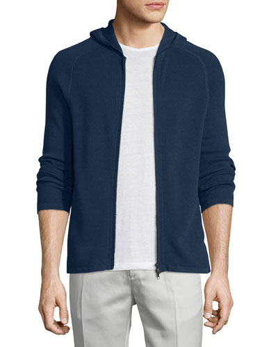 Melker Textured Zip-Up Hoodie, Illumination