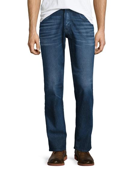 Hudson Jeans Byron Straight-Leg Denim Jeans, Dark Blue