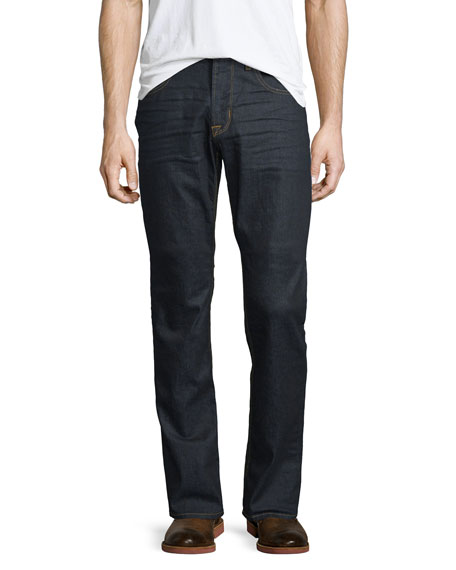 Hudson Blake Annex Straight-Leg Denim Jeans, Dark Blue