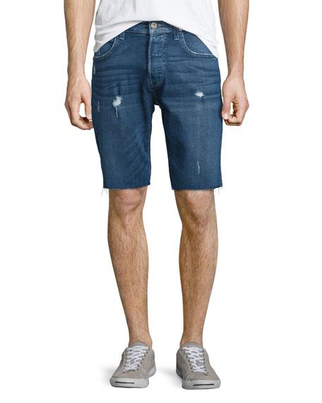 Hudson Jeans Hess Cutoff Denim Shorts, Blue