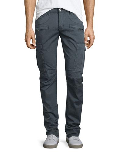 Greyson Cargo Biker Jeans, Navy
