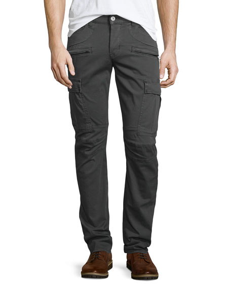 Hudson Jeans Greyson Wharf Cargo Biker Jeans, Dark