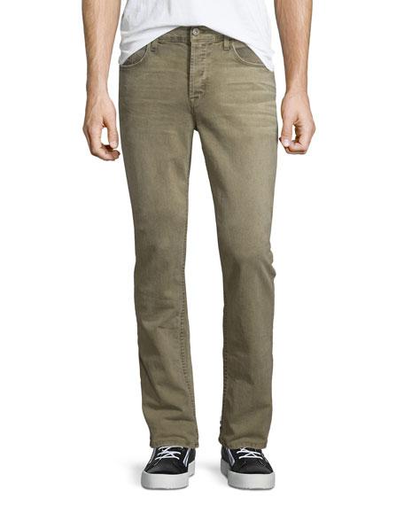 Hudson Jeans Sartor Control Slouchy Skinny-Leg Denim Jeans, Beige