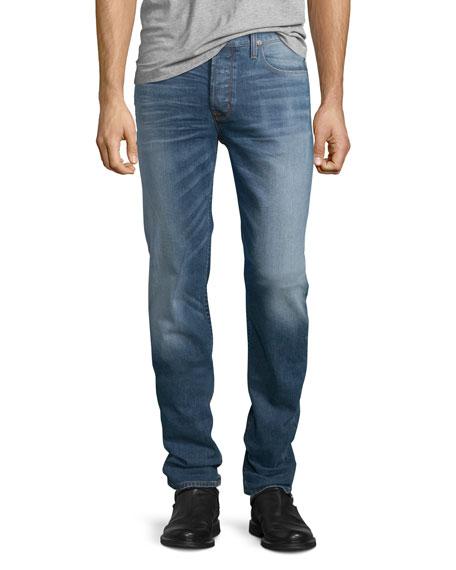 Hudson Jeans Sartor Beach Slouchy Skinny-Leg Denim Jeans, Blue