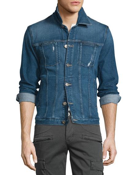 Hudson Jeans Garrison Arcade Denim Jacket, Blue