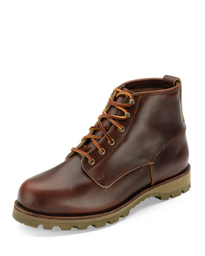 Readfield USA Plain-Toe Leather Boot, Brown