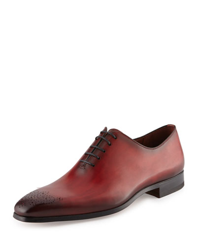 Leather Lace-Up Shoe, Red