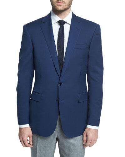 Anthony Trim-Fit Solid Wool Blazer, Navy