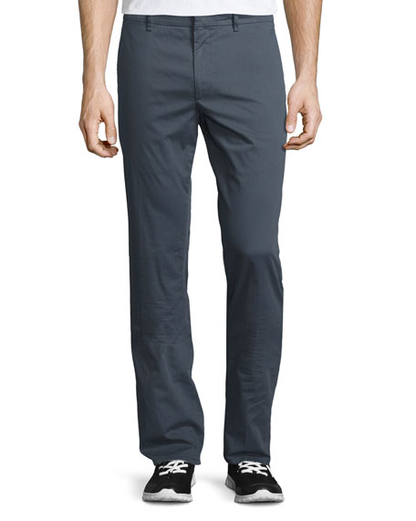 Burberry Dyed Slim-Fit Trousers, Mid Gray