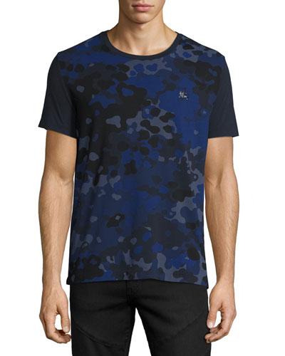 Camo-Print T-Shirt, Navy