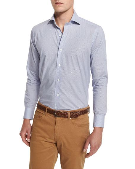 Buoy-Print Long-Sleeve Sport Shirt