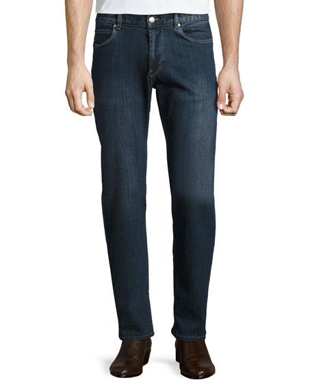 Peter Millar Straight-Leg Vintage-Wash Denim Jeans, Blue