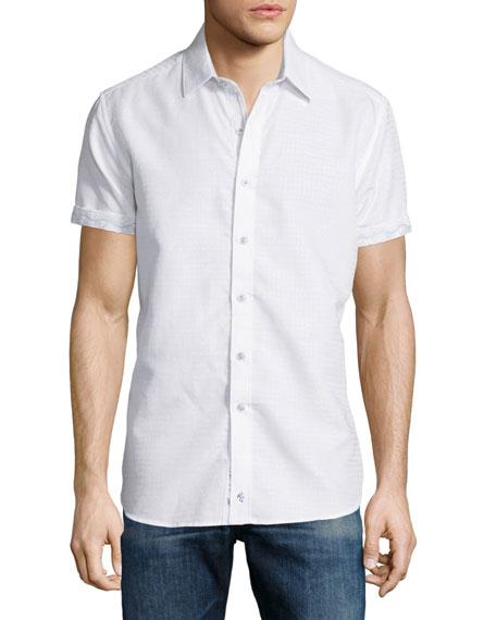 Robert Graham Santa Catalina Short-Sleeve Shirt, White
