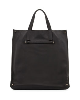 Leather Tote Bag, Black