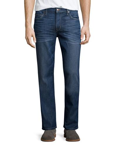 Matthieu Classic Straight-Leg Denim Jeans, Blue
