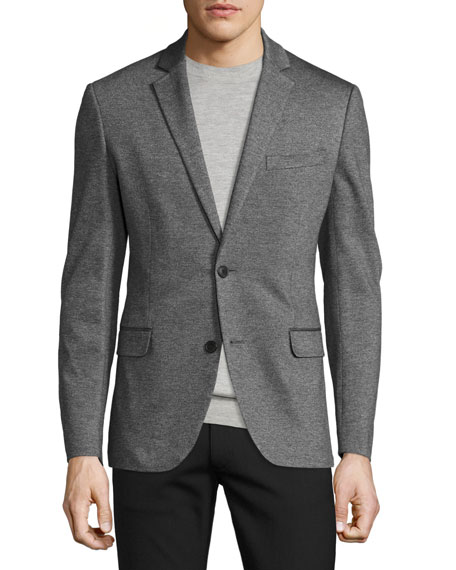 Theory Rodolf Double-Face Blazer, Charcoal