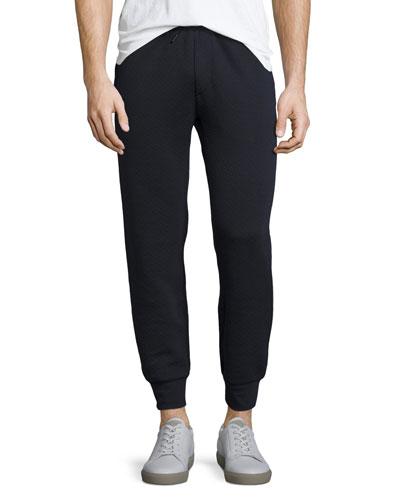 Morris Textured-Knit Jogger Pants, Eclipse