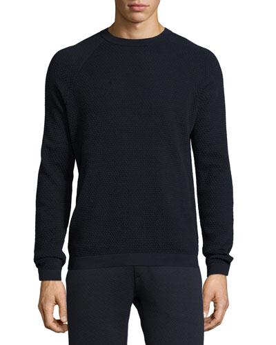 Danen Textured-Knit Sweatshirt, Eclipse