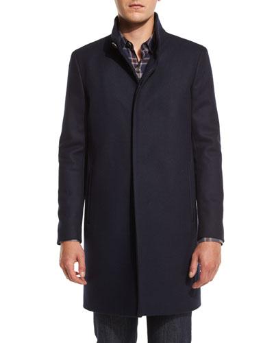 Belvin Single-Breasted Coat, Eclipse
