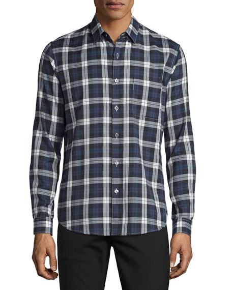 Theory Rammy Check Oxford Shirt, Victory Multi