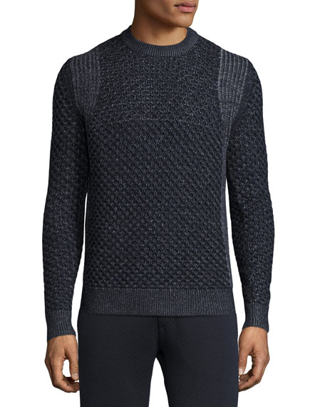 Theory Cellan Cable-Knit Merino Wool Sweater, Eclipse Multi