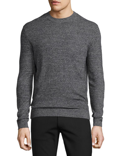 Donners Cashmere Crewneck Sweater, Black Multi