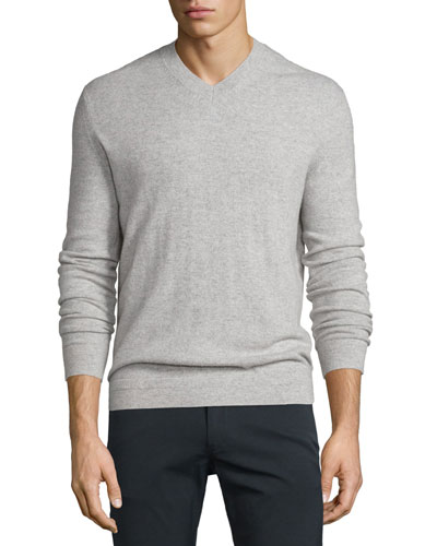 Donners Cashmere Crewneck Sweater, Heather Gray