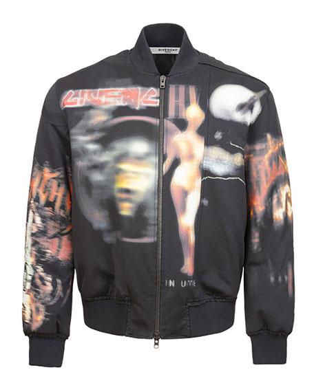 Heavy Metal Logo-Print Bomber Jacket