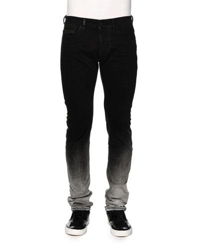 Degrade Slim-Fit Denim Jeans, Black