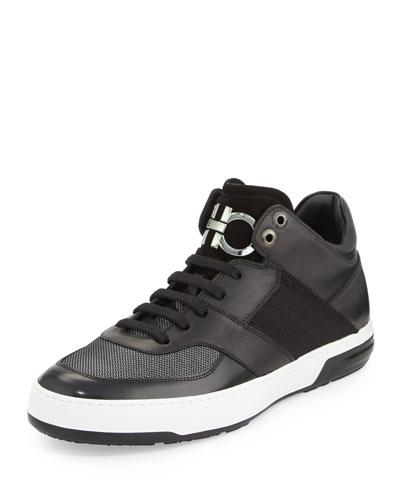 Monroe 3 Men's Mixed Media Mid-Top Sneaker, Black