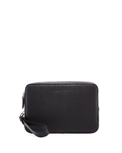 Revival Men's Leather Clutch Bag, Black