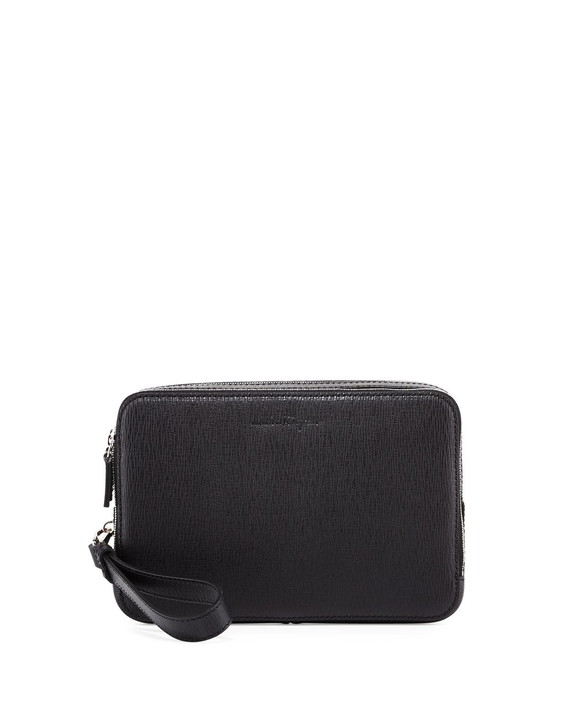 Salvatore Ferragamo Revival Men s Leather Clutch Bag f83e3d5100ff0
