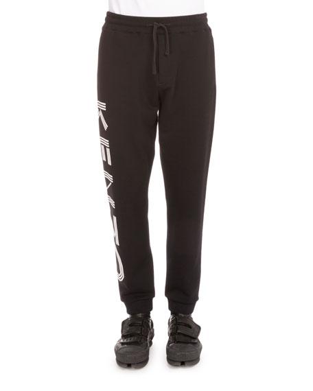 Kenzo Side-Logo Drawstring Sweatpants, Black
