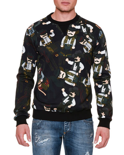 Westernman Cowboy-Print Sweatshirt
