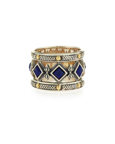 Blue Lapis Band Ring, Size 11
