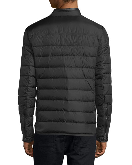 Hanriot Quilted Down Moto Jacket, Black
