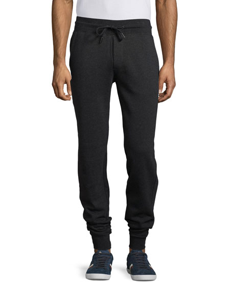 Moncler Slim-Fit Jogger Pants, Charcoal