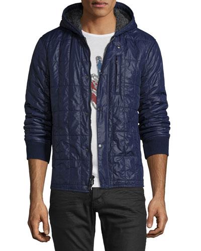 Lightweight Quilted Jacket, Deep Blue