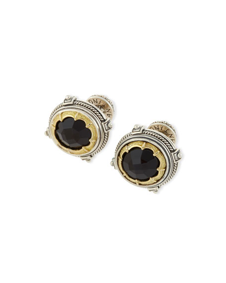 Black Onyx Round Cuff Links