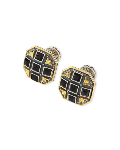 KONSTANTINO Black Onyx Cross Cuff Links
