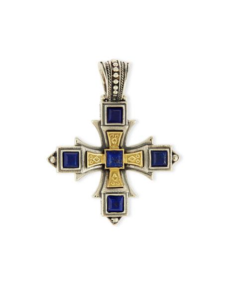 Blue Lapis Cross Pendant