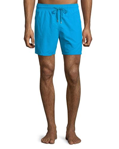 Moorea Solid Swim Trunks, Royal