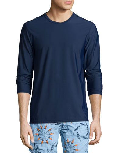 Men's Long-Sleeve Rashguard, Navy